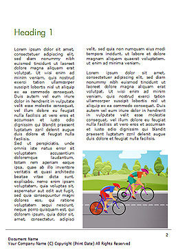 Bicycle Race Illustration Word Template, First Inner Page, 14675, Sports — PoweredTemplate.com