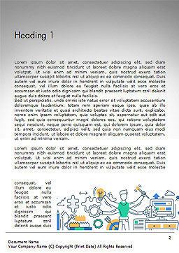 Creative Process Line Design Word Template, First Inner Page, 14677, Business Concepts — PoweredTemplate.com