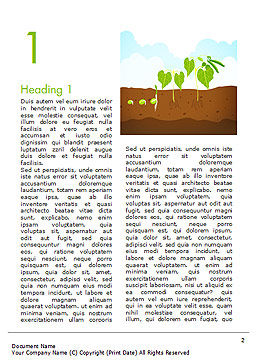 Peas Plant Growth Illustration Word Template, First Inner Page, 14680, Agriculture and Animals — PoweredTemplate.com