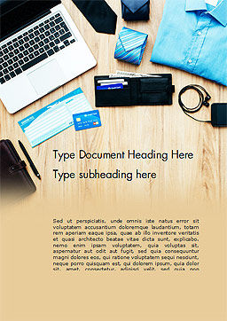 Getting Ready to Leave Word Template, Cover Page, 14682, Business Concepts — PoweredTemplate.com