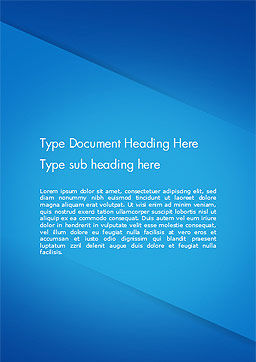 Plain Blue Background Word Template, Cover Page, 14683, Abstract/Textures — PoweredTemplate.com