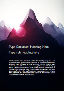 Mountain Peak Word Template Cover Page