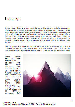 Mountain Peak Word Template First Inner Page