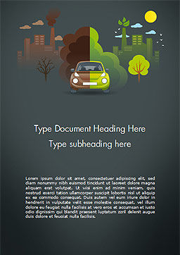 Half Green and Brown Environment Word Template Cover Page