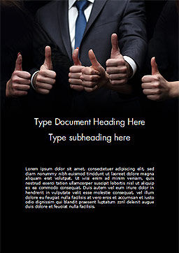Thumbs Up Word Template, Cover Page, 14701, Business Concepts — PoweredTemplate.com
