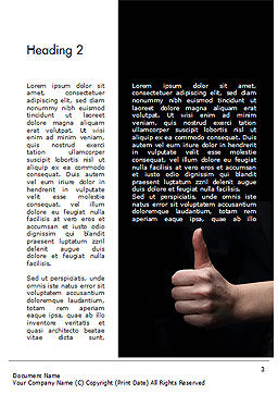 Thumbs Up Word Template, Second Inner Page, 14701, Business Concepts — PoweredTemplate.com