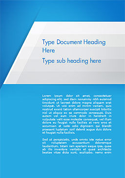 Simple Blue and White Word Template Cover Page
