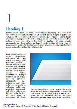 Simple Blue and White Word Template First Inner Page