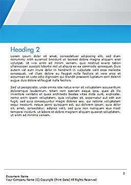 Simple Blue and White Word Template Second Inner Page