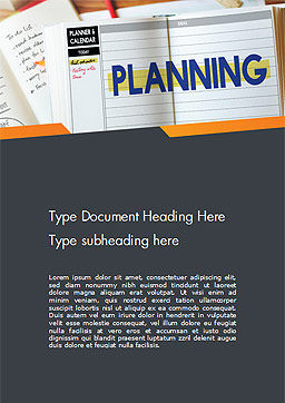 Planning Concept Word Template Cover Page