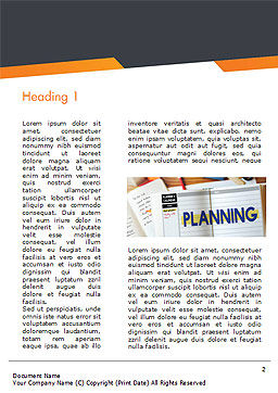 Planning Concept Word Template First Inner Page