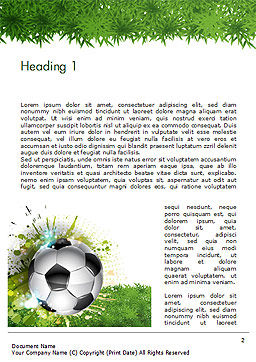 Splash Football Background Word Template, First Inner Page, 14706, Sports — PoweredTemplate.com