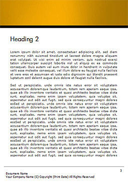 Gray Diagonal Pattern Word Template, Second Inner Page, 14708, 3D — PoweredTemplate.com