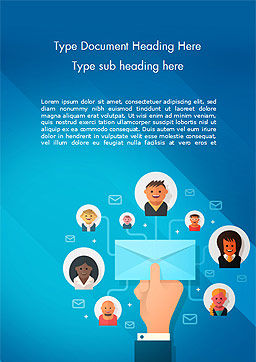E-Mail Marketing Word Template Cover Page