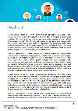 E-Mail Marketing Word Template Second Inner Page