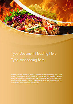 Testy Kebab Word Template, Cover Page, 14710, Food & Beverage — PoweredTemplate.com