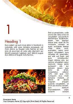 Testy Kebab Word Template, First Inner Page, 14710, Food & Beverage — PoweredTemplate.com