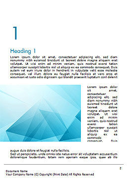 Transparent Blue Triangles Word Template First Inner Page