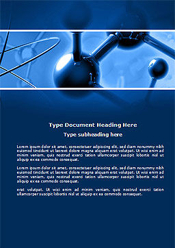Molecular Lattice In Dark Blue Colors Word Template, Cover Page, 14712, 3D — PoweredTemplate.com