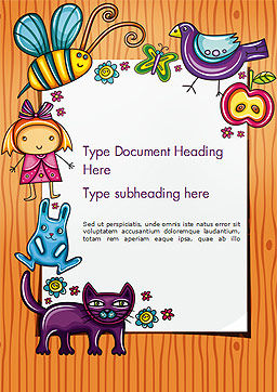 Lovely Children Frame Word Template, Cover Page, 14714, Holiday/Special Occasion — PoweredTemplate.com