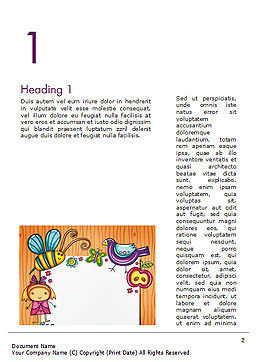 Lovely Children Frame Word Template, First Inner Page, 14714, Holiday/Special Occasion — PoweredTemplate.com