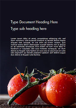 Wet Tomatoes Word Template Cover Page