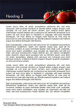 Wet Tomatoes Word Template Second Inner Page
