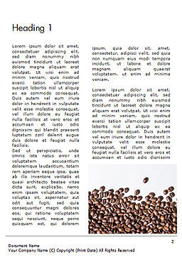 Scattered Coffee Beans Background Word Template, First Inner Page, 14718, Food & Beverage — PoweredTemplate.com