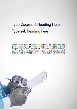 Businessman Writing on Clipboard Word Template, Cover Page, 14721, Business — PoweredTemplate.com