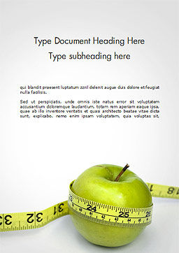 The Best Way To Lose Weight Word Template, Cover Page, 14722, Medical — PoweredTemplate.com