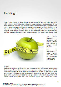The Best Way To Lose Weight Word Template, First Inner Page, 14722, Medical — PoweredTemplate.com