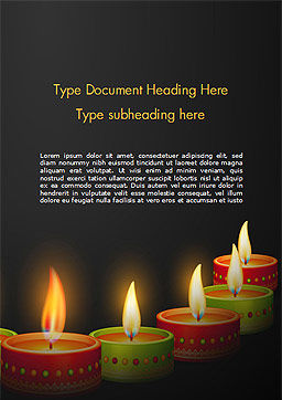 Happy Diwali Word Template, Cover Page, 14723, Holiday/Special Occasion — PoweredTemplate.com