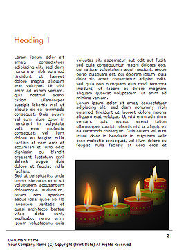 Happy Diwali Word Template, First Inner Page, 14723, Holiday/Special Occasion — PoweredTemplate.com
