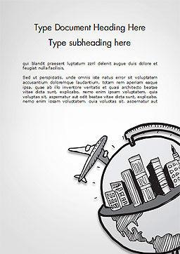 Tourism Concept Word Template, Cover Page, 14726, Cars/Transportation — PoweredTemplate.com