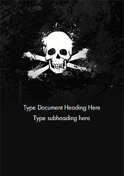 Pirate Flag Black Sails Word Template Cover Page