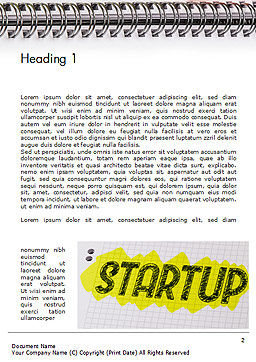 Startup Hand Drawn Label on Paper Word Template, First Inner Page, 14729, Business Concepts — PoweredTemplate.com