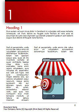 Canopy over Stall and Target with Arrows Word Template, First Inner Page, 14732, 3D — PoweredTemplate.com