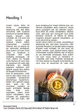 Businessman Control with Bitcoin Technology Word Template, First Inner Page, 14738, Technology, Science & Computers — PoweredTemplate.com