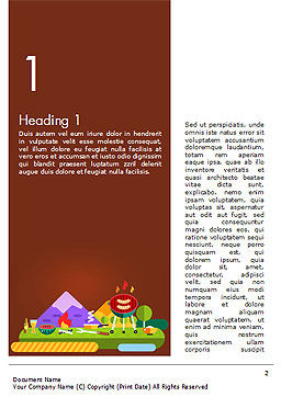 BBQ Picnic Illustration Word Template First Inner Page