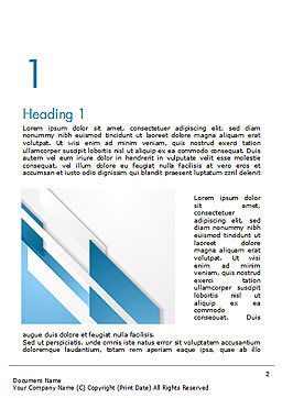 Abstract Parallel Diagonal Stripes Word Template First Inner Page
