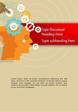 Automation Concept Word Template, Cover Page, 14746, Business Concepts — PoweredTemplate.com