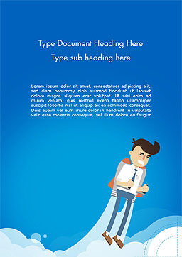 Startup Business Project Word Template Cover Page