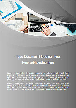 Project Review Word Template, Cover Page, 14748, Consulting — PoweredTemplate.com