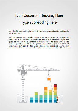 Building Business Graph Word Template, Cover Page, 14750, Construction — PoweredTemplate.com