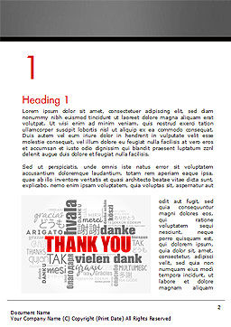 Thank You Word Cloud in Different Languages Word Template First Inner Page