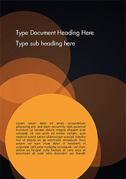 Flat Overlap Spots Word Template, Cover Page, 14754, Abstract/Textures — PoweredTemplate.com