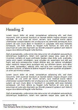 Flat Overlap Spots Word Template, Second Inner Page, 14754, Abstract/Textures — PoweredTemplate.com