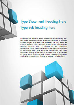 Cubic Theme Word Template, Cover Page, 14757, Abstract/Textures — PoweredTemplate.com