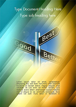 Good Best Better Concept Word Template, Cover Page, 14758, Consulting — PoweredTemplate.com