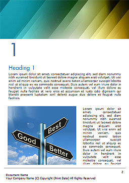 Good Best Better Concept Word Template, First Inner Page, 14758, Consulting — PoweredTemplate.com